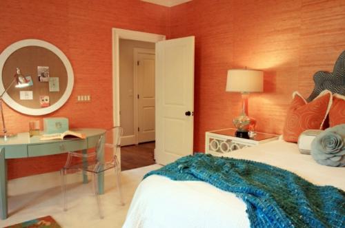 10 sensationelle Schlafzimmer in Orange - Träumen in Farbe