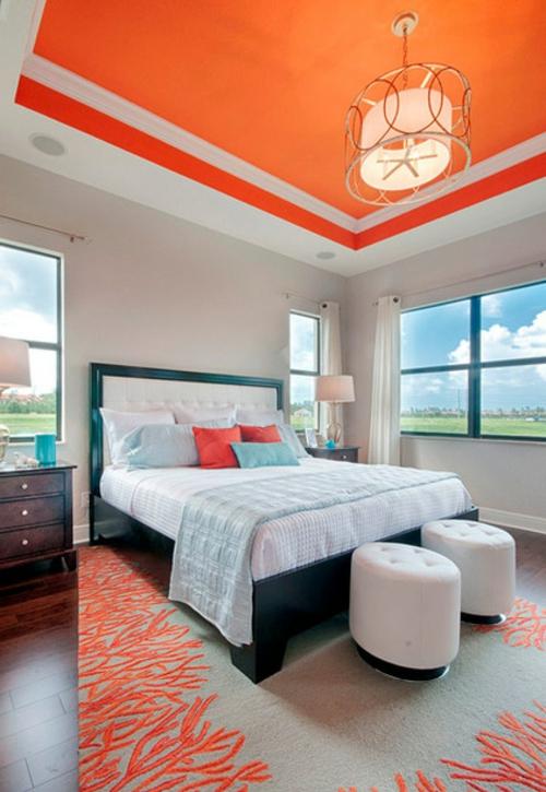 10 sensationelle schlafzimmer in orange - träumen in farbe - Schlafzimmer Farbe Orange