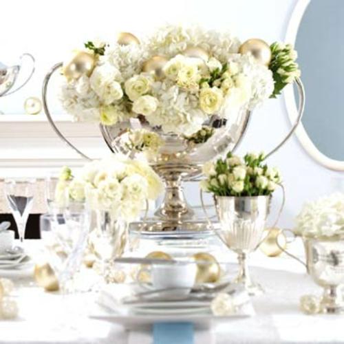 silverster deko gro e silbernen spiegelblanke vasen und. Black Bedroom Furniture Sets. Home Design Ideas