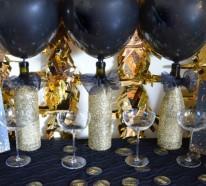 Silvester Deko für Ihre schicke Party- 33 Beispiele