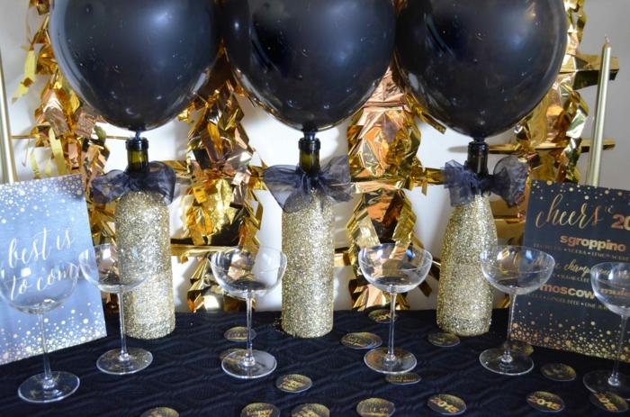 silvester deko dekoideem silvesterparty silvesteer dekoration tischdeko silvester deko golden