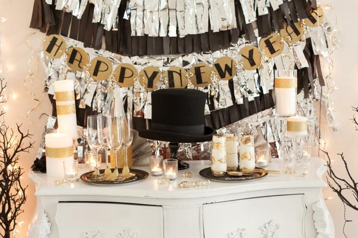 Silvester Deko - 17 stimmungsvolle Ideen für eine schicke Party
