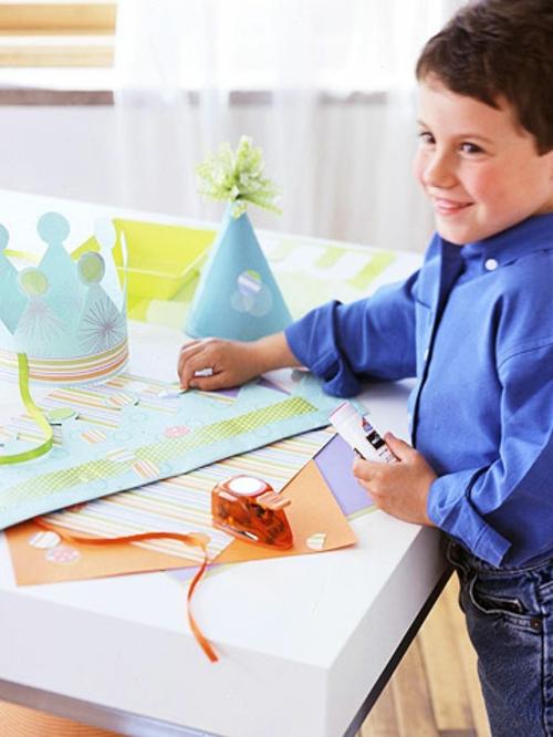 silvester party basteln mit kindern papierhüte