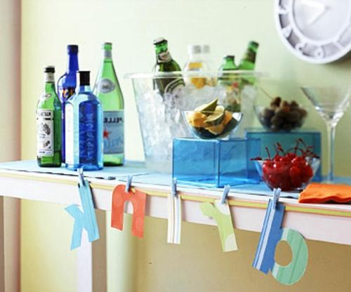silvester party getränke buffet für erwachsene