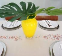 Stilvolle Dekoideen für Ihren Tisch, welche Sie bei Ihrem nächsten Fest zu Hause benutzen können