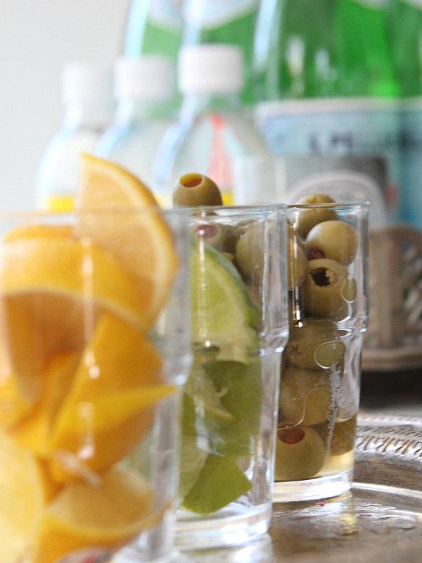 stilvolle dekoideen oliven limette und zitronen