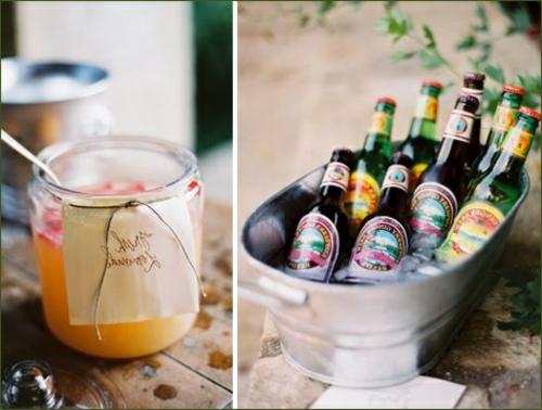 tischdeko hochzeit blech behälter und glas mit honig