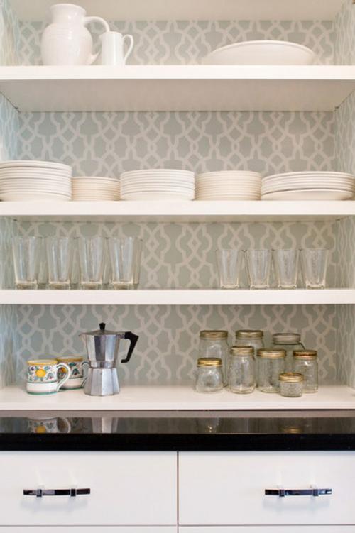 tolle Einrichtungsideen und Wohnaccessoires küchen teller regale