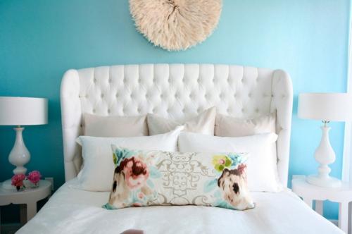 tolle Einrichtungsideen und Wohnaccessoires schlafzimmer kopfteil gepolstert