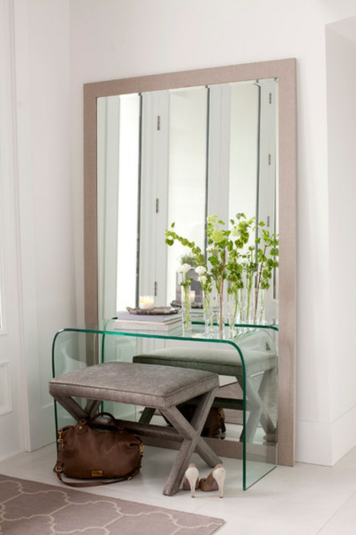 tolle Einrichtungsideen und Wohnaccessoires spiegel glas tischplatte