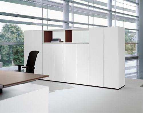 eingebaute schränke weiß papier büro arbeit office ideen