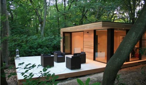 ultramoderne coole Office Designs fassade holz wald