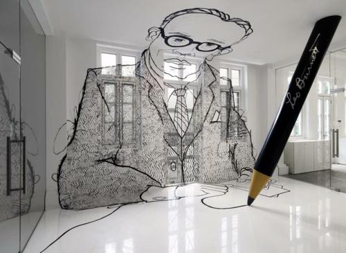 ultramoderne coole Office Designs grafisch glanzvoll fußboden