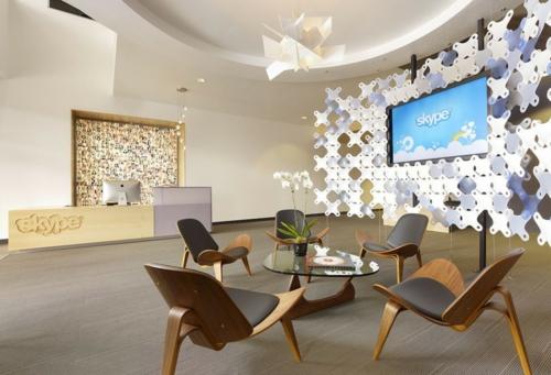 ultramoderne coole Office Designs warm ambiente holz stuhl oval tisch