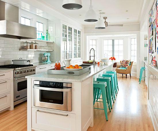 Weisse kuchenschranke fur jeden geschmack 15 elegante designs for Türkise küche