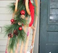 Weihnachtsdekoration Draussen Schmucken Sie Ihren Eingangsbereich