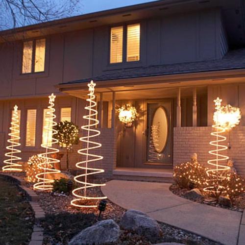 weihnachten licht ausstellung baum zweige farben höhe