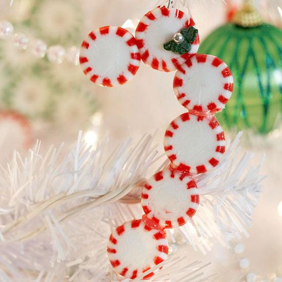 weihnachtsdeko basteln zuckerstange ornamenten