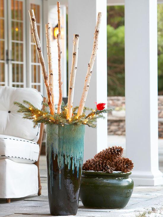 tolle weihnachtsdeko ideen im freien 30 inspirierende. Black Bedroom Furniture Sets. Home Design Ideas