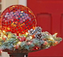 Werbung. Facebook Twitter Google+ Pinterest. Weihnachtsdeko Ideen Winter  Verzierung Eingangstür Girlande