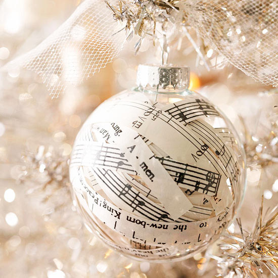 weihnachtsdekoration aus papier partitur anhänger
