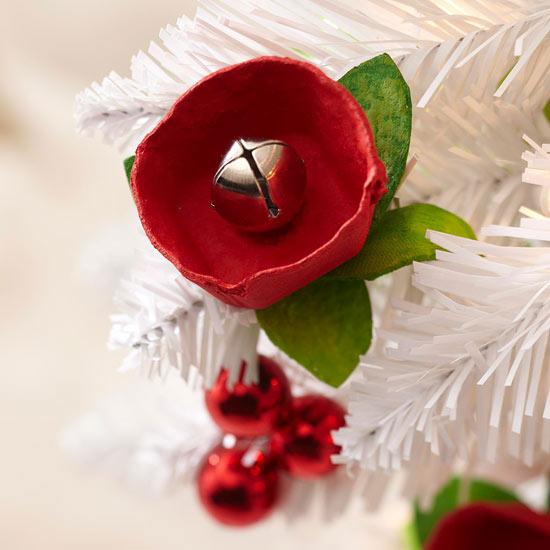 weihnachtsdekoration basteln glocke deko künstlich weihnachtsbaum