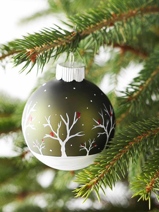 weihnachtsdeko basteln weihnachtskugel