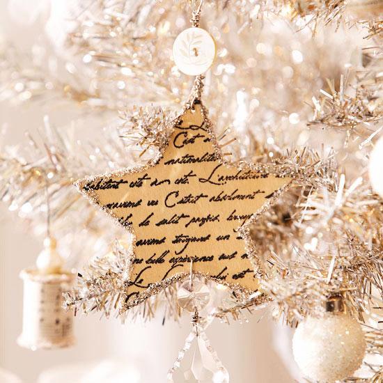 weihnachtsdekoration basteln weihnachtsstern papier goldig