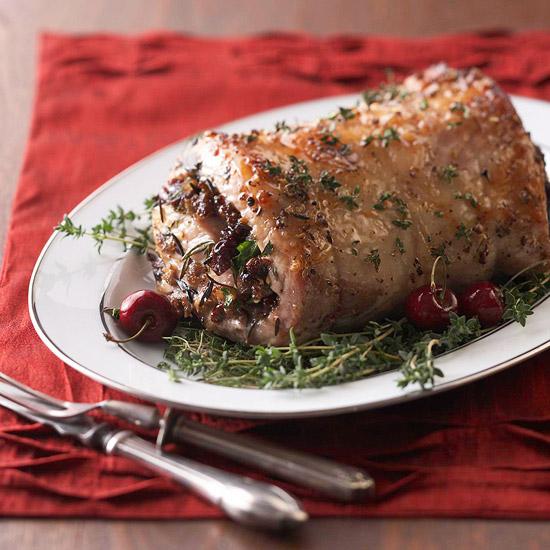 weihnachtsessen rezepte gefülltes schweinefilet mit wildreis