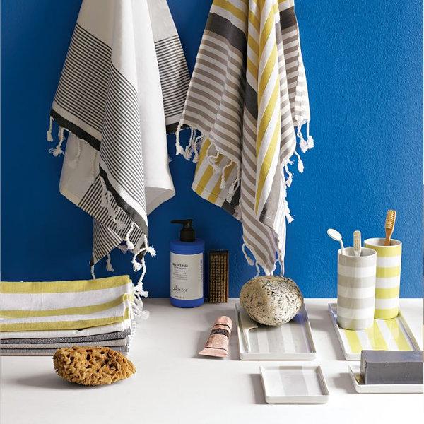 wohnen und dekorieren bad tuch harmonisch farbig