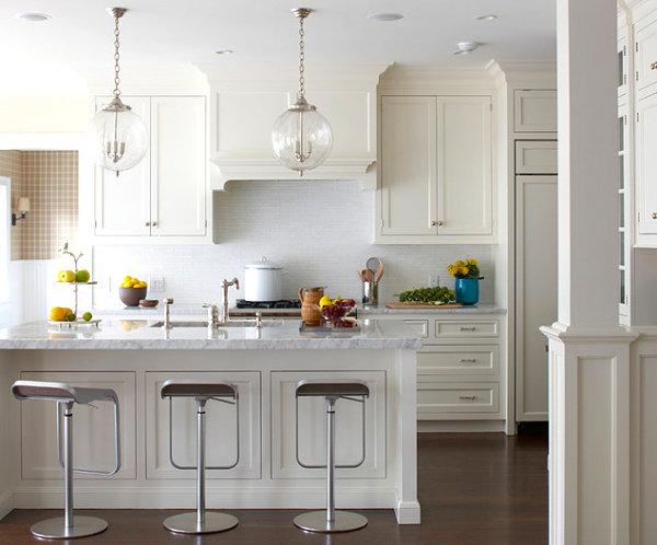 wohnen und dekorieren essbereich küche insel barhocker weiß obst
