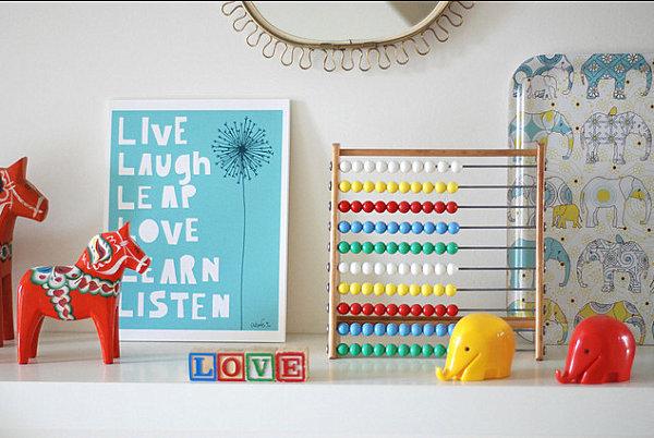 wohnen und dekorieren kinderzimmer elefant love farbig