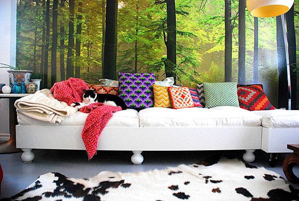 sofa mit kissen dekorieren die neuesten innenarchitekturideen. Black Bedroom Furniture Sets. Home Design Ideas