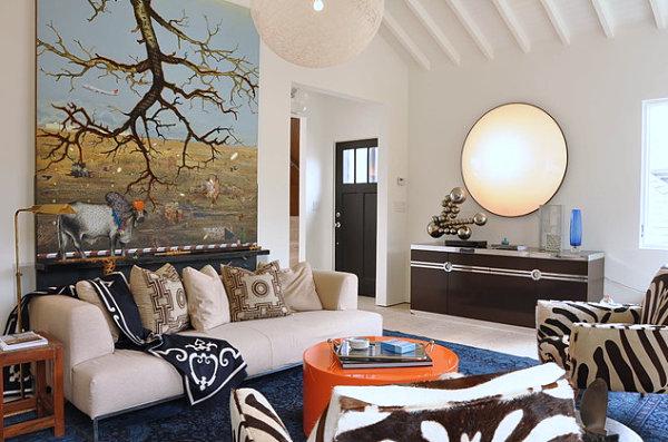 wohnen und dekorieren kissen wand deko sofa wohnzimmer