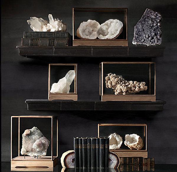 wohnen und dekorieren kunstwerk wand deko kristalle