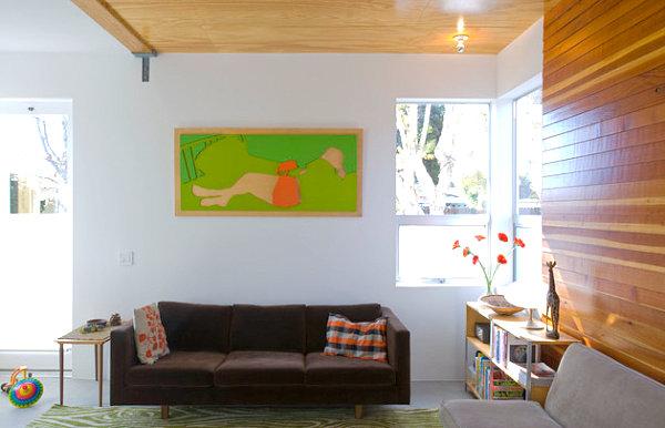 Wohnzimmer Wand Dekorieren : Los Angeles Home Living Room Photos