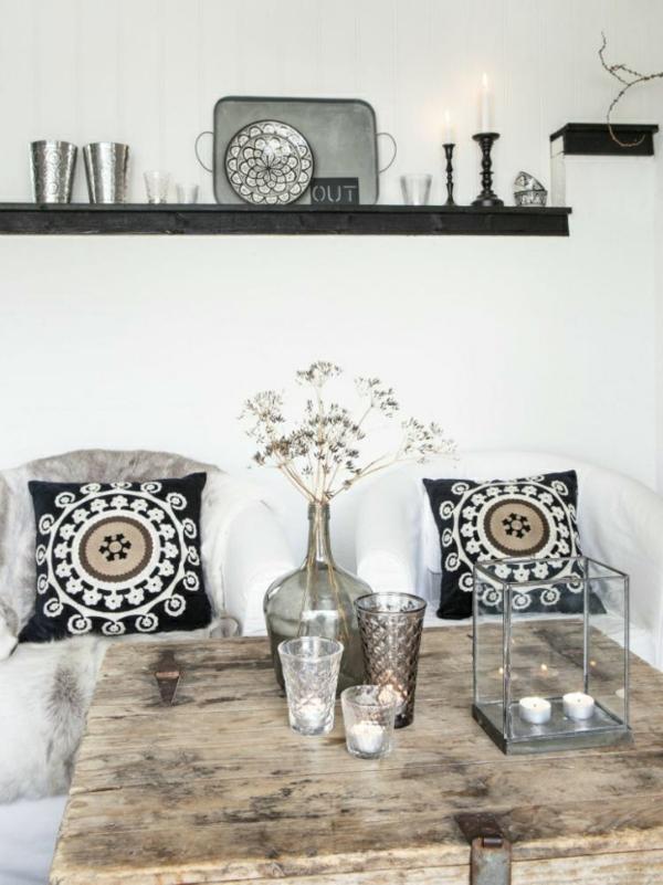 Wohnen und einrichten ein ferienhaus mit skandinavischem for Entspannungsecke einrichten
