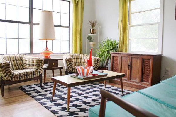 wie können sie ihr wohnzimmer einrichten - 17 kreative ideen - Einrichtungsideen Wohnzimmer Retro