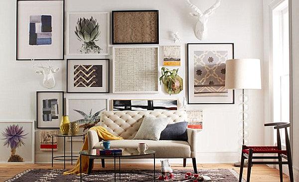 Wohnzimmer Einrichten Wand Deko Gemlde Sofa Teppich