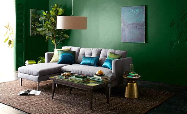 Wohnzimmer Ideen Wandgestaltung Grün | flamencon.com