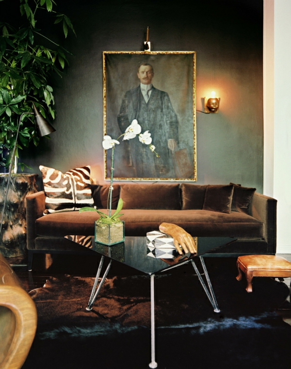 Wohnzimmer farben 22 dekorationsideen mit schwarz for Dekorationsideen wohnzimmer