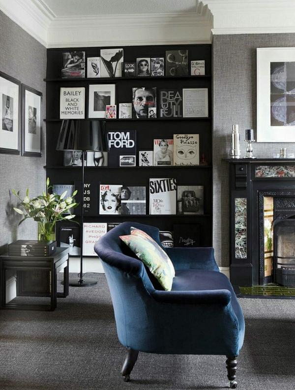 retro farben wohnzimmer:wohnzimmer farben marineblaues sofa mit samt gepolstert