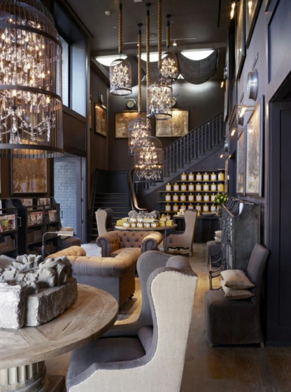 Wohnzimmer farben 22 dekorationsideen mit schwarz - Dekorationsideen wohnzimmer ...