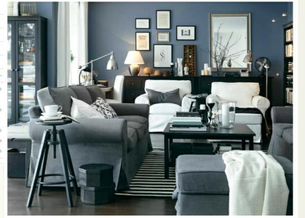 neobarock wohnzimmer:wohnzimmer farben weiße bequeme sessel und graue sofas