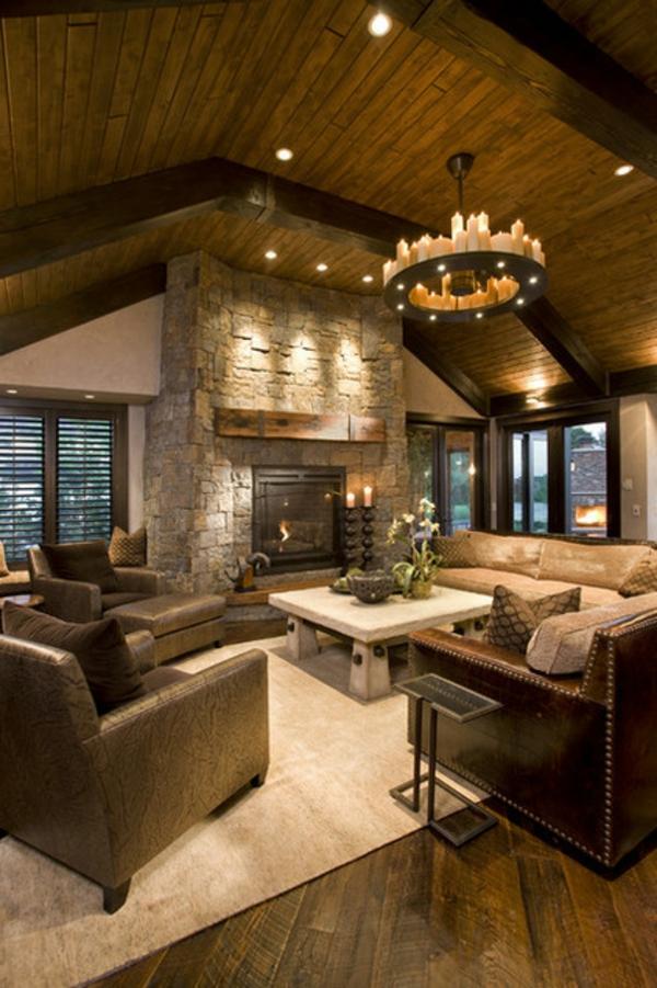 wohnzimmer ideen mit deckenbalken ~ kreative deko-ideen und ...