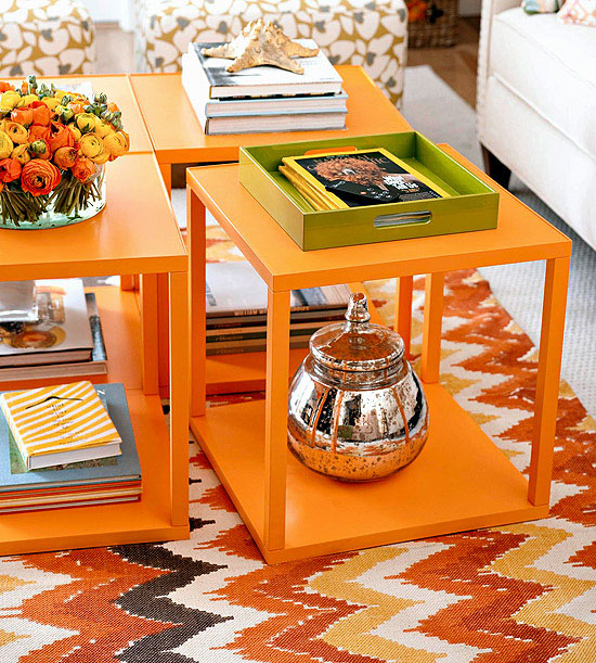 wohnzimmer multifunktional einrichten spiegelblanke keksdose