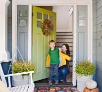 Wunderschöne Herbstdekoration am Eingang – 35 Ideen für gute Laune in der kalten Jahreszeit