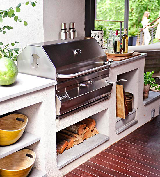 wunderschöne veranda inspirationen mit außenküche
