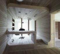 Kleines Apartment komplett aus Holz in Moskau