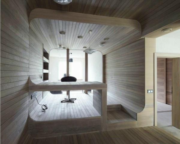 Apartment komplett aus Holz einrichtung gemütlich ambiente